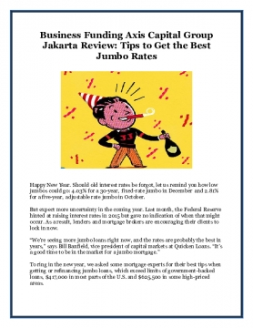 Business Funding Axis Capital Group Jakarta Review: Tips to Get the Best Jumbo Rates