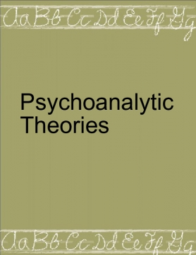 Psychoanalytic Theories