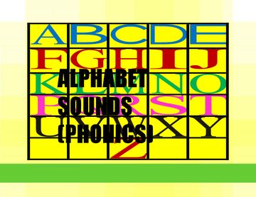 Alphabet sounds for KG 1