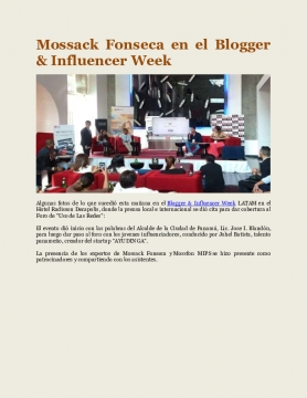 Mossack Fonseca en el Blogger & Influencer Week
