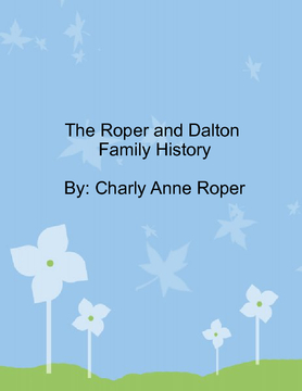 Roper and Dalton Family History