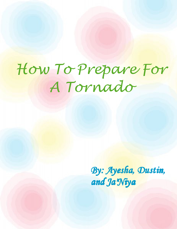 how to prepare for a tornado Tornadoes are the most violent of all atmospheric storms it is important to stay  ahead of the game so that if a tornado touches ground, you know what to do.