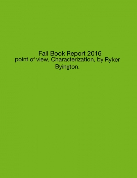Fall Book Report 2016
