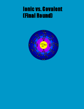 Ionic vs. Covalent (Final Round)
