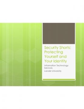 Security Shorts:  Protecting Your Identity