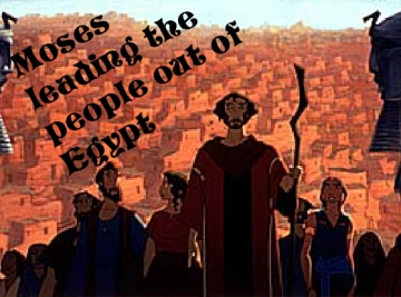 Moses leading people out of egypt