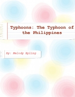 Super Typhoon of the Philippines