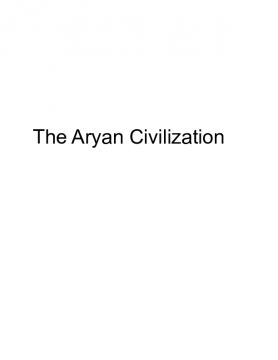 The Aryan Civilization