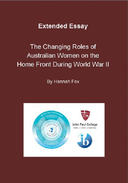 The Changing Roles of Australian Women on the Home Front In World War II