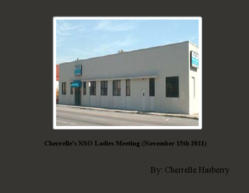 Cherrelle's NSO Ladies Meeting (November 15th 2011)