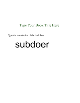 subdoer
