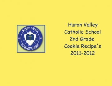 HVCS 2nd-Grade Cookie Recipes