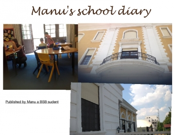 Manu's Summer school Diary and 1 home page