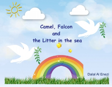 camel, falcon and the litter in the sea.