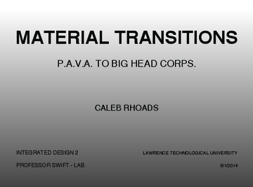 Material Transitions