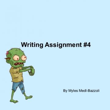 Writing Assignment #4