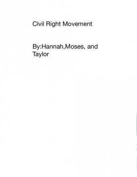The Civil Rights Movment
