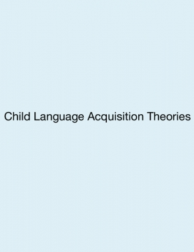 Child Acquisition Research