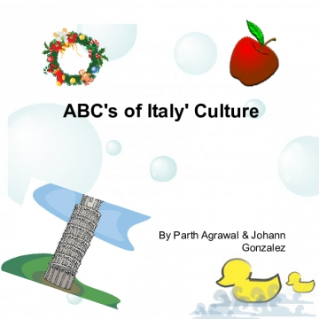 ABC's of Italy's Culture