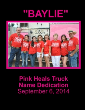 Pink Heals Hays County Truck Dedication