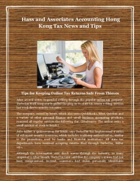 Hass and Associates Accounting Hong Kong Tax News and Tips