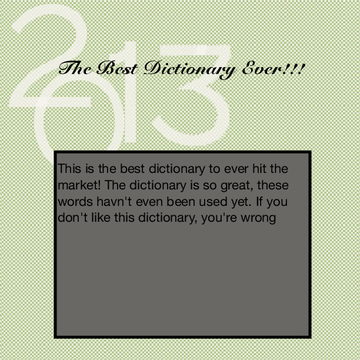 The best dictionary ever!
