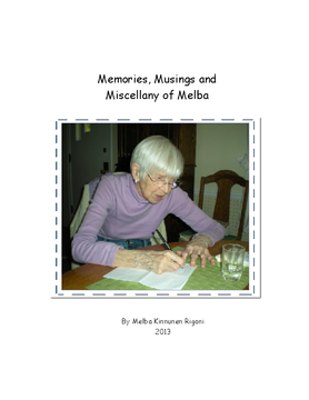 Memories, Musings and Miscellany of Melba