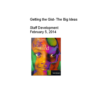 Getting the Gist- The Big Ideas of Eric Jensen