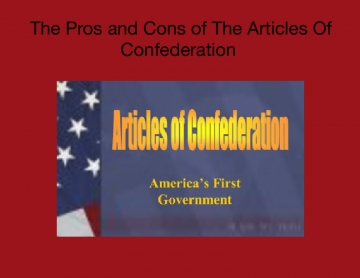 Say No to The Articles Of Confederation