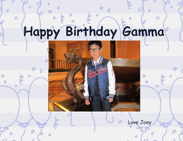 Happy Birthday Gamma