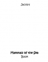 Jacob's ABC Mammals of the Sea Book