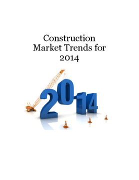 Construction Market Trends for 2014