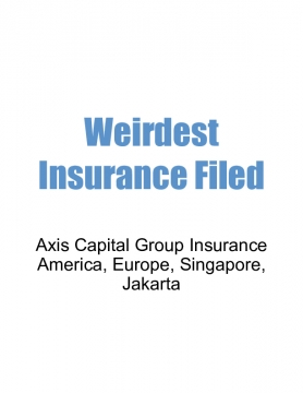 Weirdest Insurance Filed