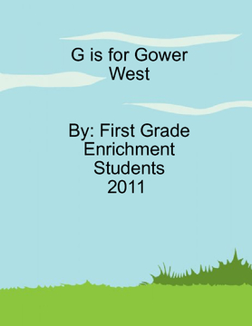 G is for Gower West