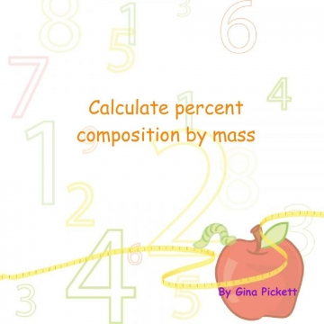 Calculate percent composition by mass