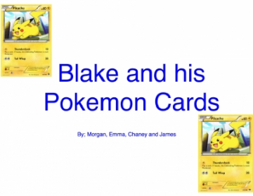 Blake and His Pokemon Cards