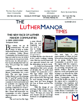 Luther Manor Times