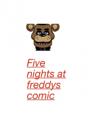 Five nights at Freddys comic