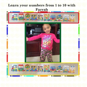 Learn your numbers from 1 to 10 with Farrah
