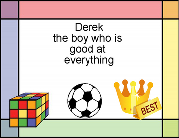 derek the boy who was good at everything