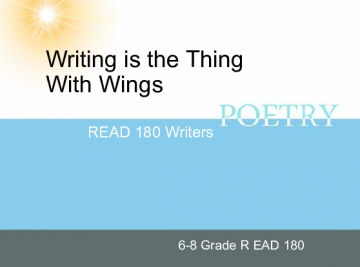 Writing is the Thing With Wings