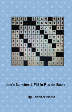 Jen's Number 4 Fill In Puzzle Book