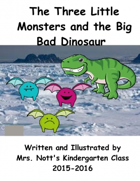 The Three Little Monsters and the Big Bad Dinosaur