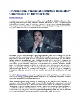 International Financial Securities Regulatory Commission on Investor Help