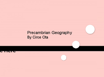 Precambrian geography