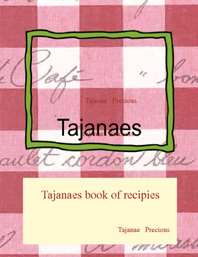 Tajanaes book of recipies