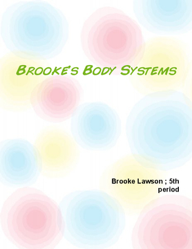 Brooke's body systems