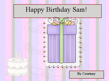 Happybirthday Sam!