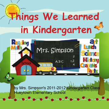 Things We Learned In Kindergarten