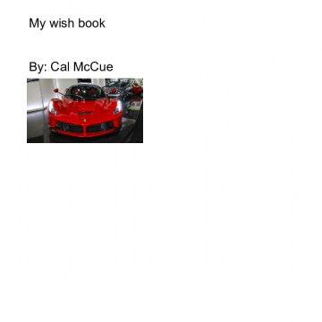My wish book